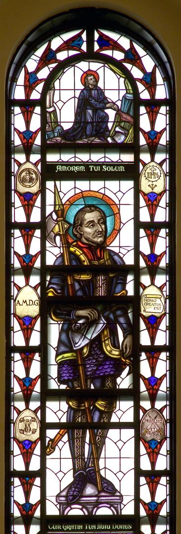 Madonna della Strada Chapel - St. Ignatius Window
