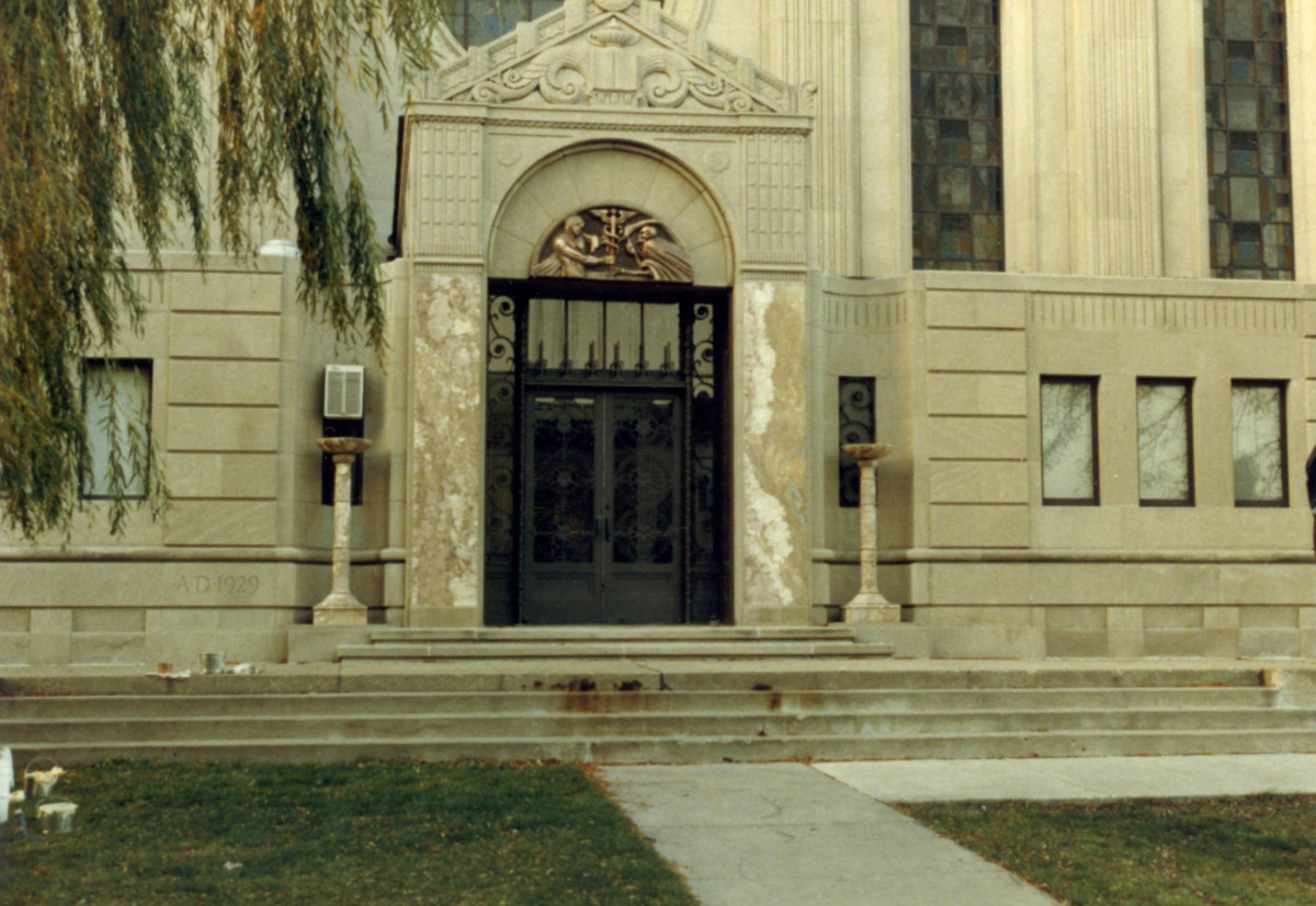 """Flatliners"" - Transformed Cudahy Library Entrance"