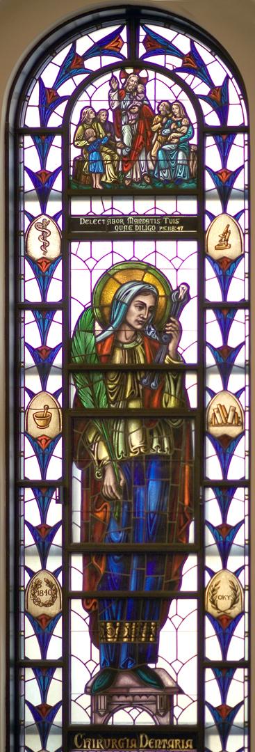 Madonna della Strada Chapel - St. Apollonia of Alexandria Window