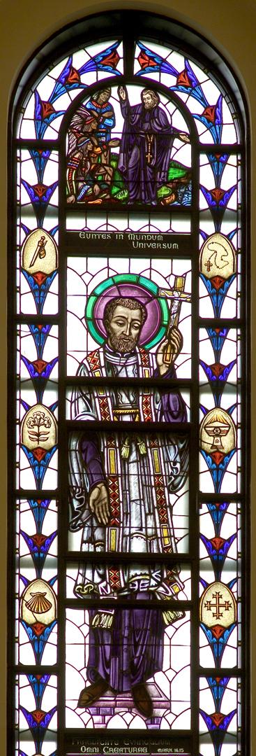 Madonna della Strada Chapel - St. Francis Xavier Window