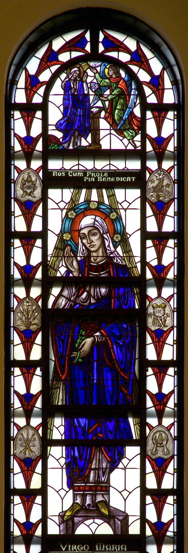 Madonna della Strada Chapel - Sodality of Our Lady Window