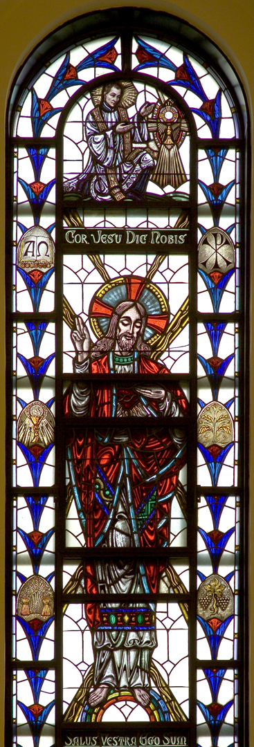 Madonna della Strada Chapel - Our Lord showing His Sacred Heart Window
