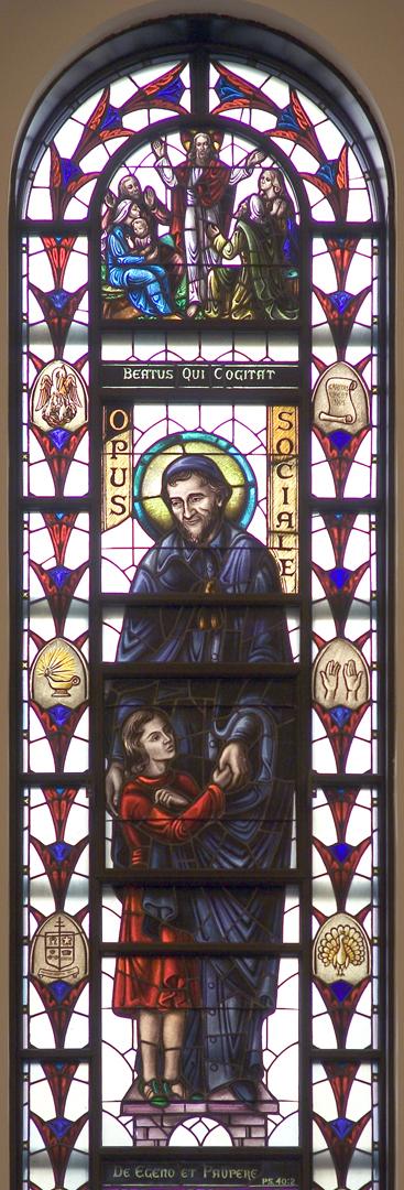 Madonna della Strada Chapel - St. Vincent de Paul Window