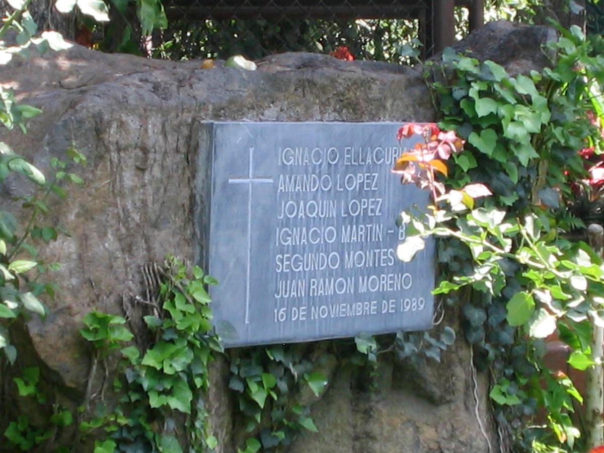 Salvadoran Martyrs Memorial at Universidad Centroamericana.