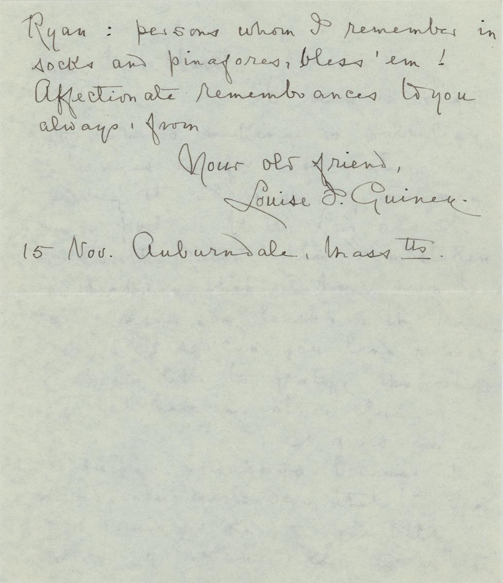 Louise Imogen Guiney letter Mr. Hurd page 2