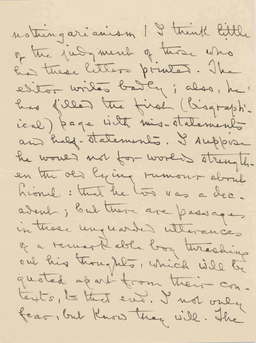 Louise Imogen Guiney letter 1919 page 2