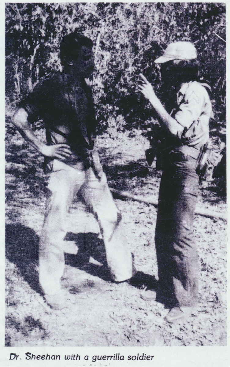 Dr. Sheehan with a FMLN guerrilla soldier