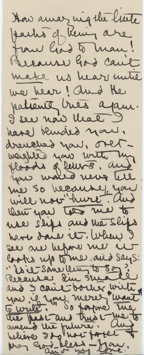 "Alice Brown letter, ""..little paths..."""