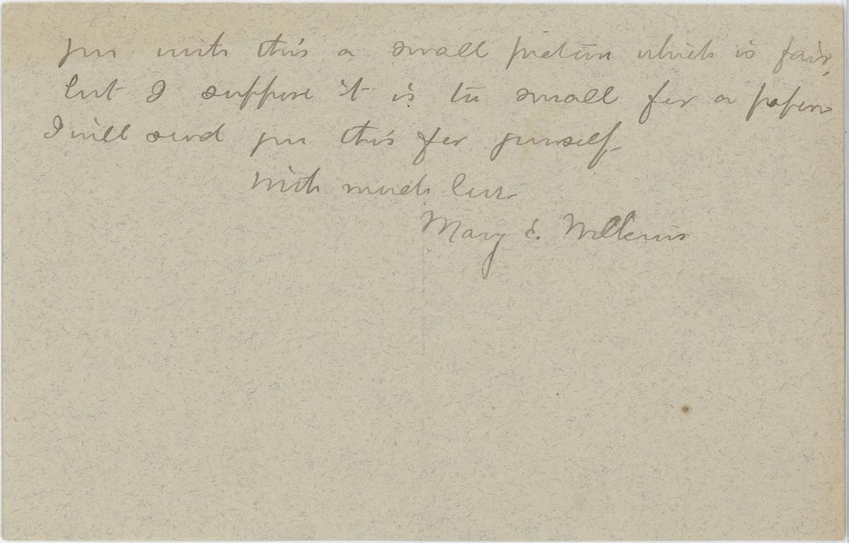 Mary E. Wilkins Freeman letter Mr. Pratt page 4