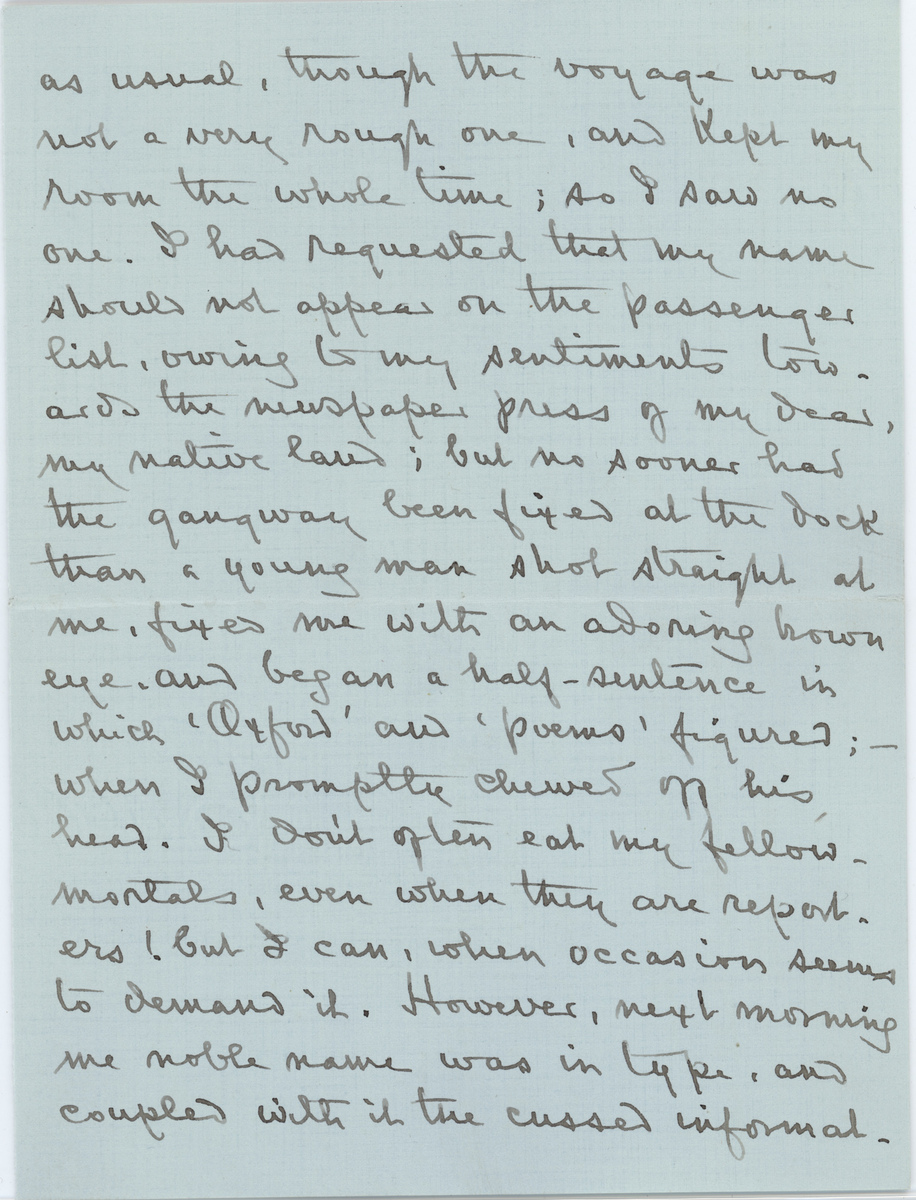Louise Imogen Guiney letter, page 2