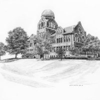 Cudahy Science Hall - Sketch