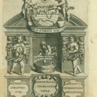 Noua demonstratio immobilitatis terrae petita ex virtute magnetica, et quaedam alia ad effectus & leges magneticas, vsumque longitudinum & vniuersam geographiam spectantia, de nouo inuenta...(La Fieche, 1645)