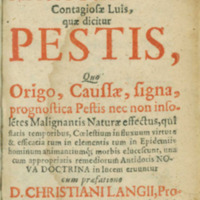 Athanasii Kircheri e Soc. Jesu Scrutinum physico-medicum contagiosae luis, quae dicitur pestis...(Leipzig, 1659)