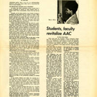 """'Black community evolves with new consciousness,' says Diane Allen."" Skyscraper, October 11, 1968"