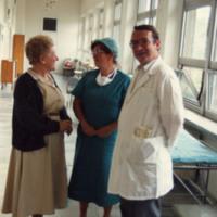 Marie Krakowski with Doctor and Nurse