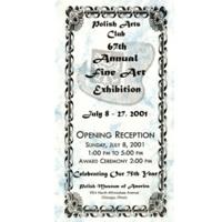 Polish Arts Club Exhibition Program