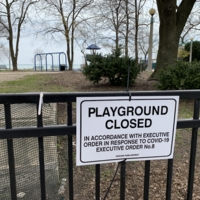 Playground Closed - COVID-19 sign