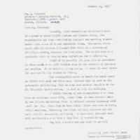 Johnson & Johnson Letter