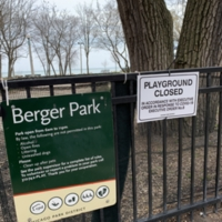 Berger Park - Playground Closed - COVID-19