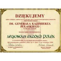 Pulaski School Certificate