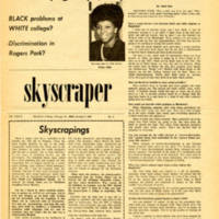 """Subtle white barriers segregate minority groups, says Diane Allen."" Skyscraper, October 4, 1968"