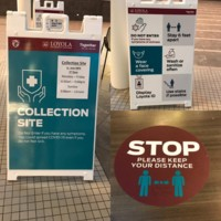 Signs at the Damen Student Center