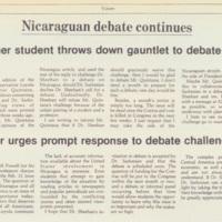 """""""Nicaraguan Debate Continues"""""""