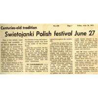 """Centuries-old tradition Swietojanki Polish festival June 27"""