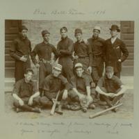 Baseball team, 1896